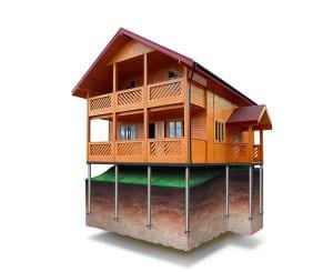 дом на сваях