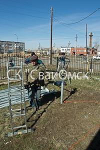 Монтаж свайного поля в Омске